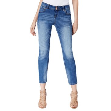 INC International Concepts High Cuff Regular Fit Crop Pant in Indigo