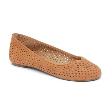 Lucky Brand Enorahh Women's Perforated Flat Cashew