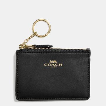 Coach Box Mini ID Skinny Wallet Black