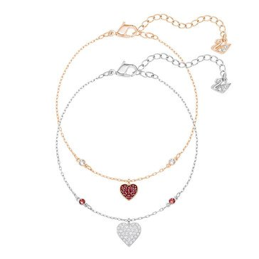Swarovski Rhodium & Gold Plated Wishes Heart Bracelets
