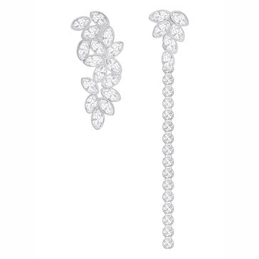 Swarovski Rhodium Plated Garden Jacket Earrings