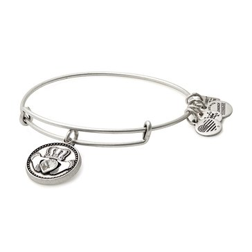 Alex and Ani Charity By Design Claddagh Expandable Bangle, Silver Finish