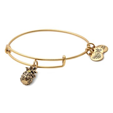 Alex and Ani Pineapple Expandable Bangle, Gold Finish