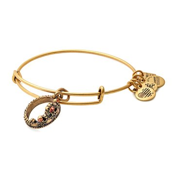Alex and Ani Charity By Design Queen's Crown Expandable Bangle, Gold Finish
