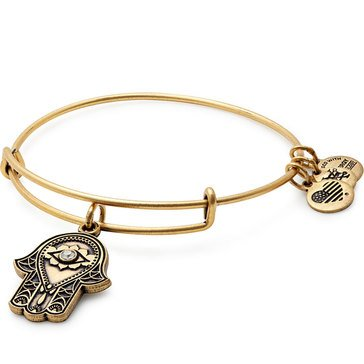 Alex and Ani Hand of Fatima Expandable Bangle, Gold Finish