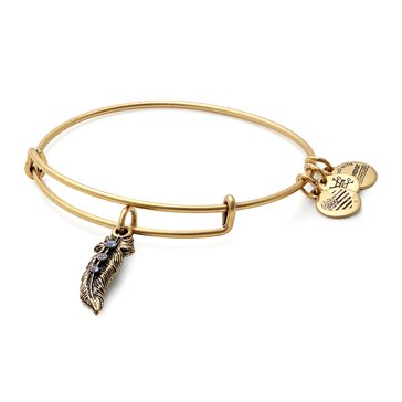 Alex and Ani Feather Expandable Bangle, Gold Finish