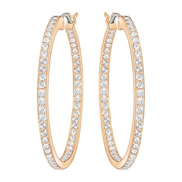 Swarovski Rose Gold Plated Sommerset Hoop Earrings