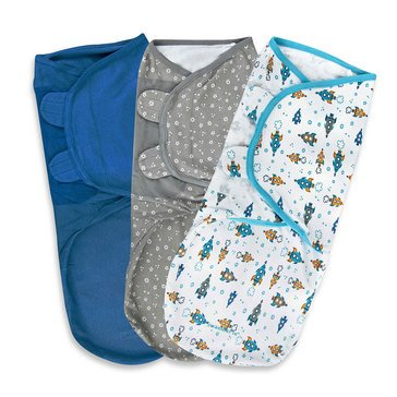 Summer Infants SwaddleMe, Superstar - Large, 3-Pack