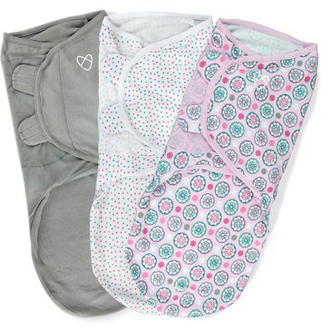 Summer Infants SwaddleMe, Floral Geo - Large, 3-Pack