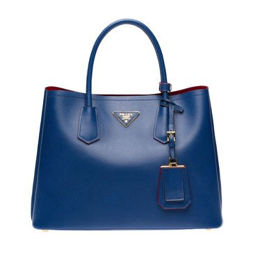 Prada Saffiano Leather Tote Bluette