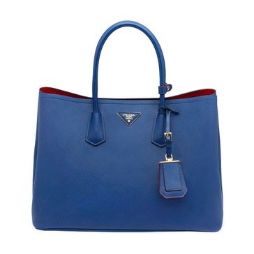 Prada Saffiano Leather Tote Cornflower Blue