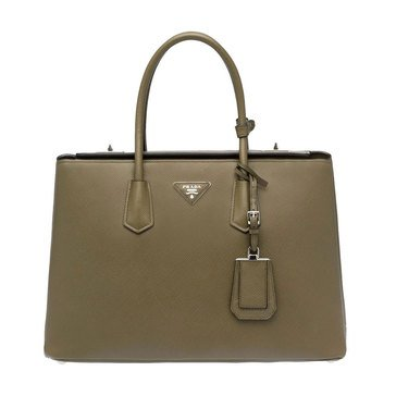 Prada Saffiano Leather Tote Military Green