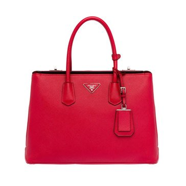 Prada Saffiano Leather Tote Red