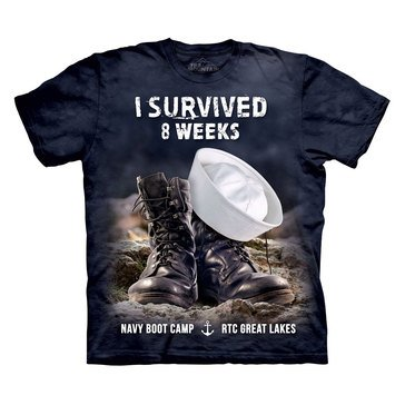 The Mountain Men's Navy RTC Great Lakes I Survived 8 Weeks Bootcamp Short Sleeve Tee