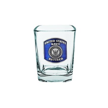 Sparta USN Retired Square Shot Glass