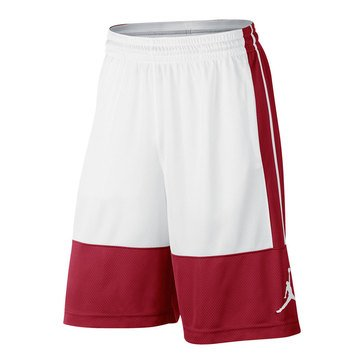 Jordan Men's Rise Solid Basketball Shorts - Red/White