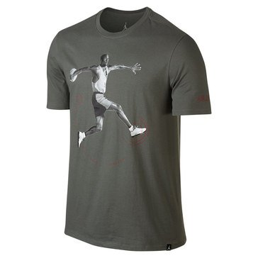 Jordan Men's Air Jordan Men's 5 Tee - Rock