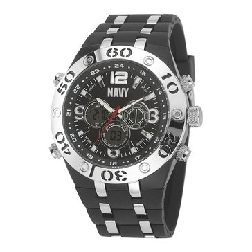 Moret Men's USN C23 Watch, Black Dial & Black Band