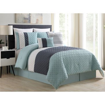 Harbor Home Gold Collection 8-Piece Comforter Set, Edgemont - Queen