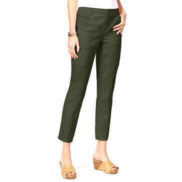 Style & Co Utility Patchwork Skinny Pants in Evening Olive
