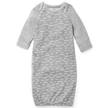 Skip Hop Newborn Gown, Boho Feathers, Grey
