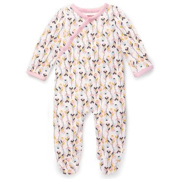 Skip Hop Baby Girls' Footie, Boho Feathers, Pink