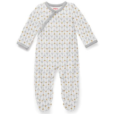 Skip Hop Newborn Footie, Boho Feathers, Grey