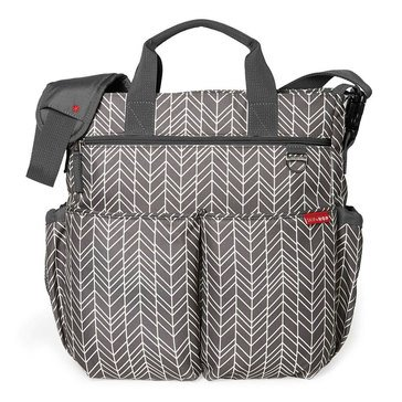 Skip Hop Duo Signature Diaper Bag, Grey Feather