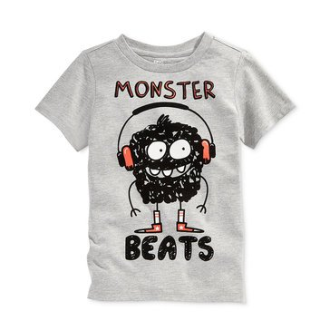 Epic Threads Little Boys' Monster Beats Tee, Lt. Heather