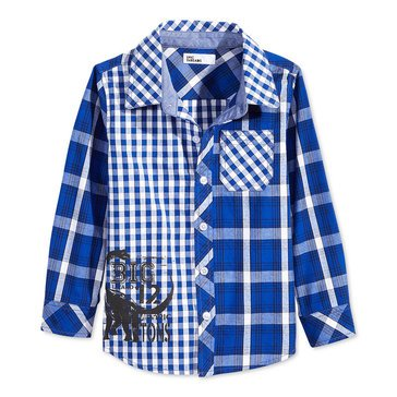 Epic Threads Little Boys' Dino Woven Shirt, Lazulite