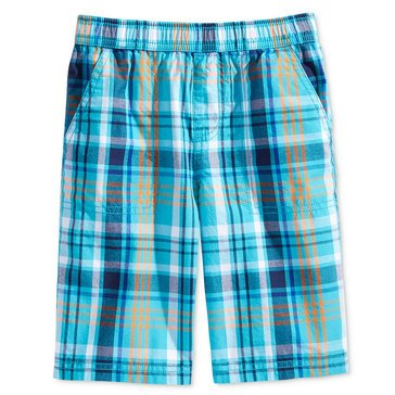 Epic Threads Little Boys' Plaid Shorts, Scuba Blue