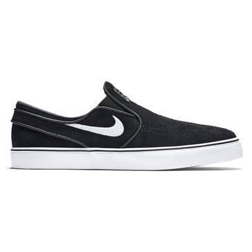 Nike Skate Zoom Stefan Janoski Slipon Men's Skate Shoe Black/ White