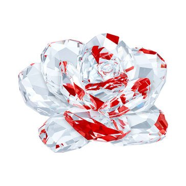 Swarovski Crystal Living Rose