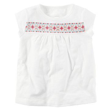 Carter's Baby Girls' Embroidered Top