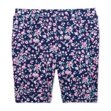 Epic Threads Little Girls' Flower Print Bermuda Shorts, Pink