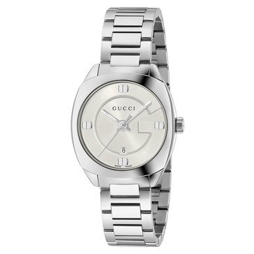 Gucci Women's GG2570 White Dial Stainless Steel Vintage Bracelet  Watch 29mmATCH
