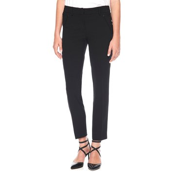 Karl Lagerfeld Triacetate Skinny Leg Pant in Black