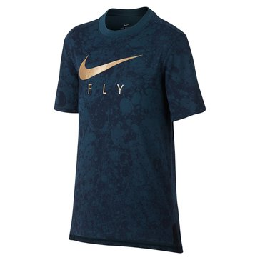 Nike Big Boys' Lunar Fly Tee, Space Blue