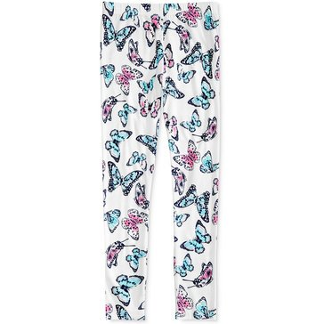 Epic Threads Big Girls' Butterfly Print Leggings, Ivory