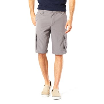 Dockers Men's Flat Front Cargo Shorts in Grey