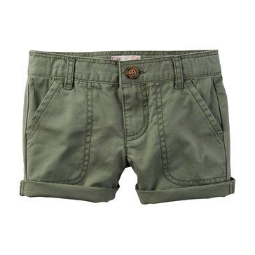 Carter's Toddler Girls' Twill Shorts, Olive