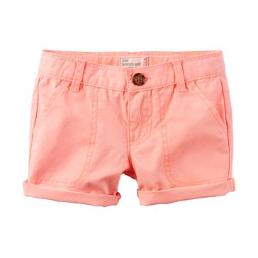 Carters' Toddler Girls' Twill Shorts, Orange