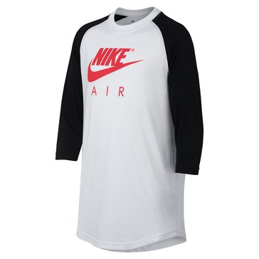 Nike Big Boys' Tri 3/4 Air Tee, White