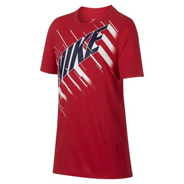 Nike Big Boys' Speed Block Tee, University Red