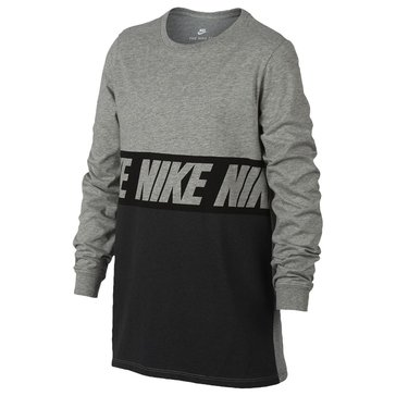 Nike Big Boys' Block Tee, Dark Grey Heather