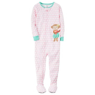 Carter's Toddler Girls' Dot Hula Monkey Pajama