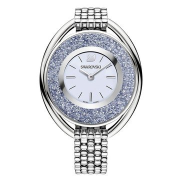 Swarovski Stainless Steel Blue Crystalline Oval Watch