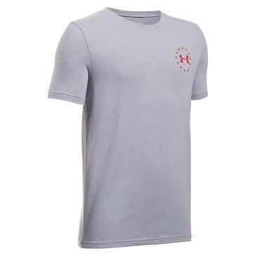 Under Armour Big Boys' Freedom Flag Tee, True Gray Heather