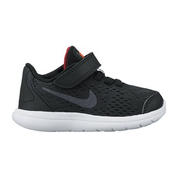 Nike Flex 2017 RN Boys' Running Shoe Black/ Metallic Silver