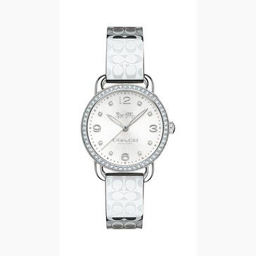 Coach Women's Delancey Etched Sprayed Bangle Watch, Stainless Steel